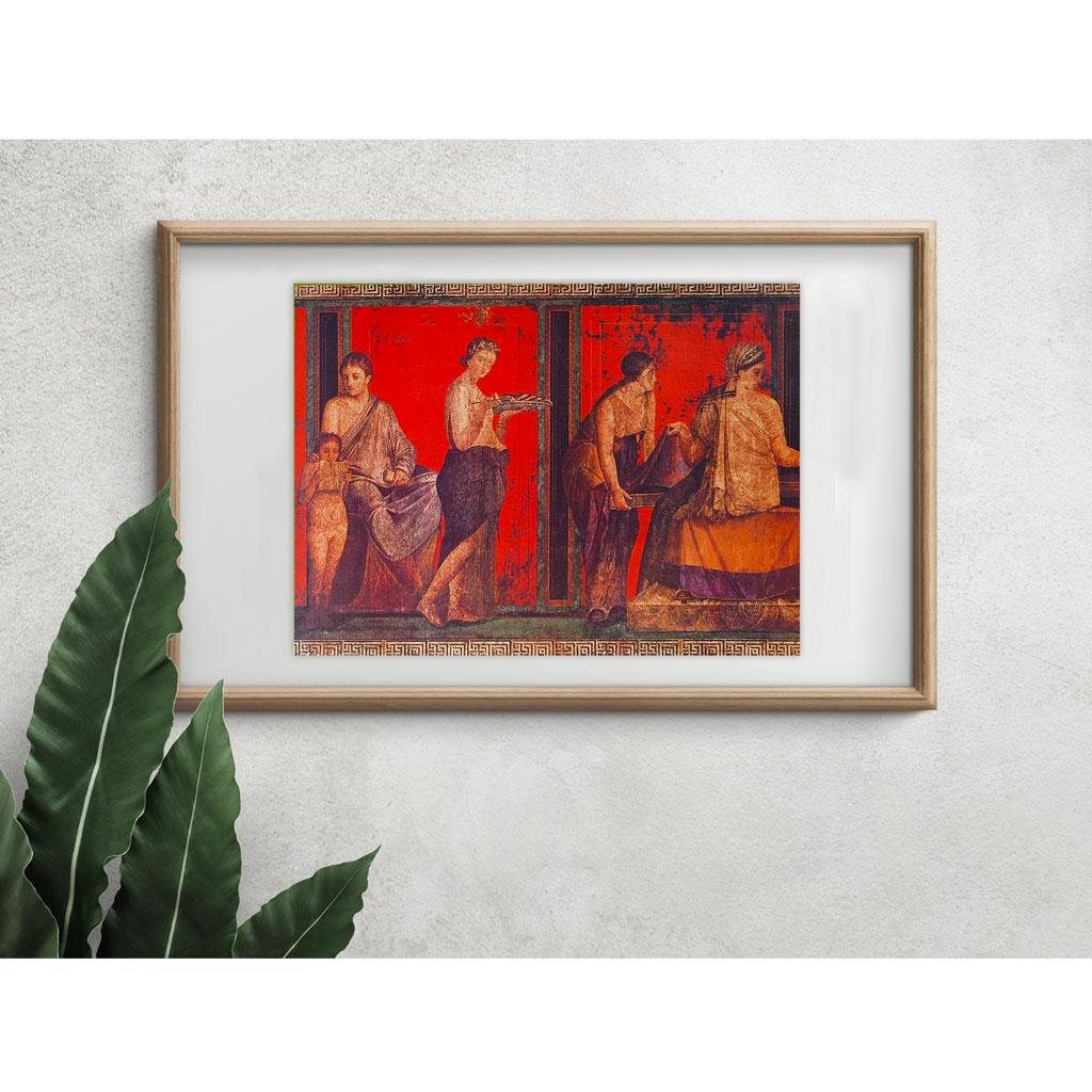 La Fanciulla Offerente Pompei Cornice