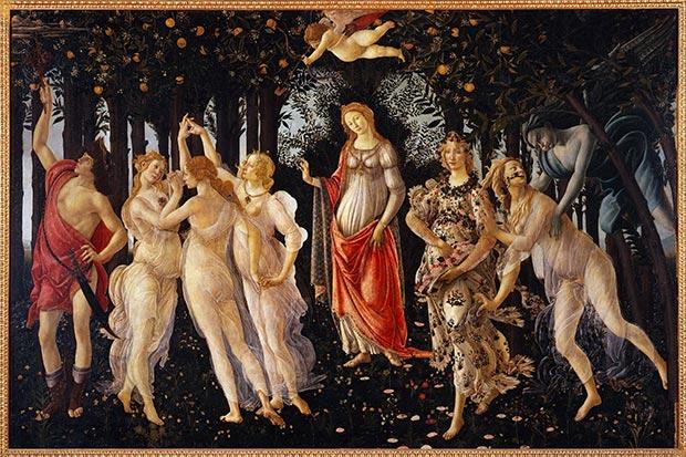 Primavera Botticelli Opera Quadro