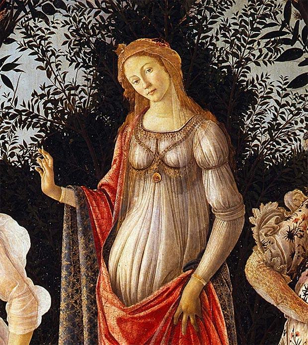 Venere La Primavera Botticelli Dettaglio
