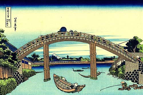 Fuji Ponte Hokusai Fukagawa