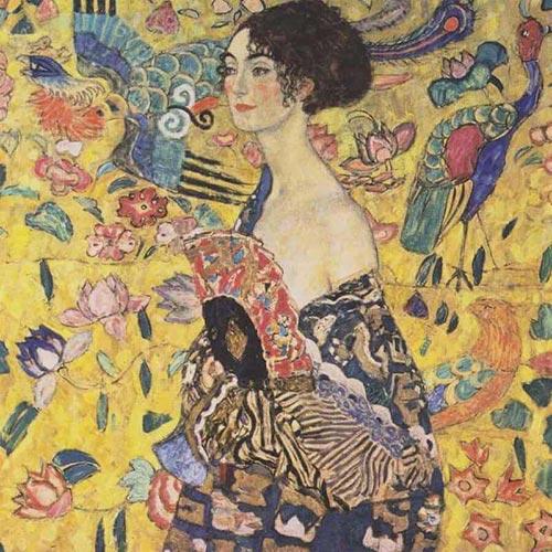 Lady With Fan Klimt