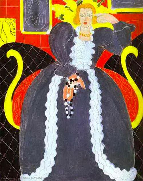 Matisse Signora In Blu Puzzle Arte