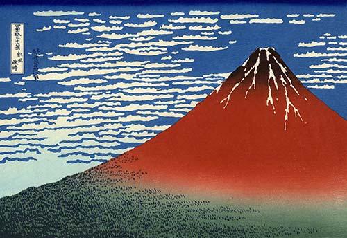 Red Fuji Hokusai