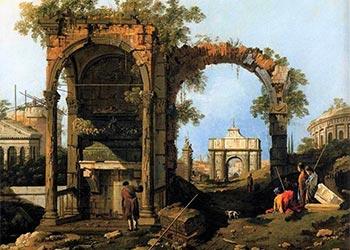Canaletto Capriccio Rovine