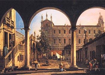 Canaletto Capriccio Scuola San Marco