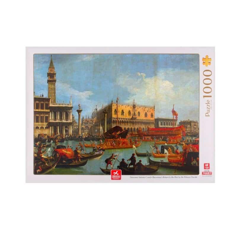 Canaletto Piazza San Marco Bucintoro Puzzle Fronte