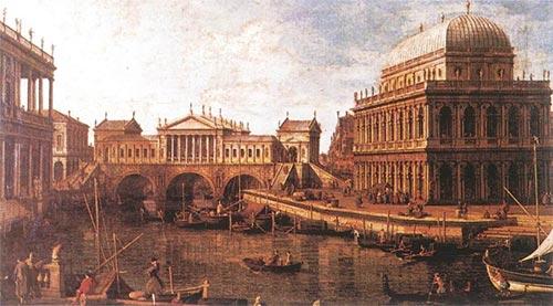 Capriccio Con Edifici Palladiani Canaletto