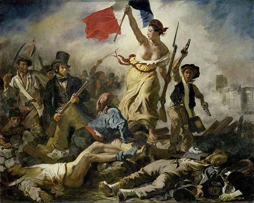 Delacroix La Libertà Che Guida Il Popolo