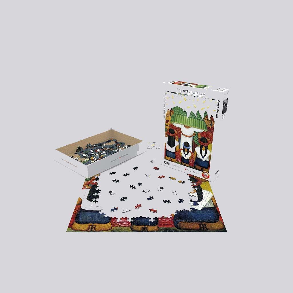 Diego Rivera Puzzle Flower Festival