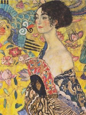 Donna Nell'arte Klimt Dama Con Ventaglio