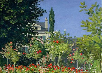 Flowering Garden At Sainte Adresse Monet