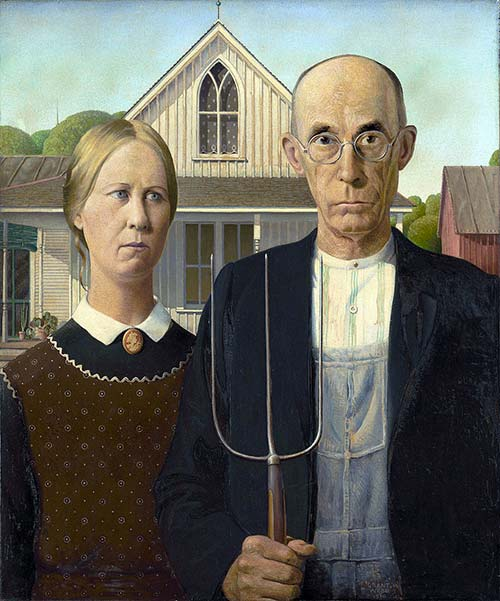Grant Wood American Gothic Puzzle