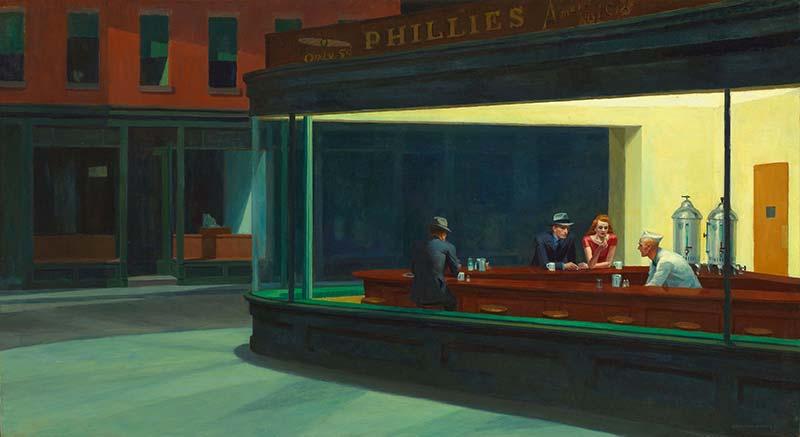 Hopper Nighthawks Art