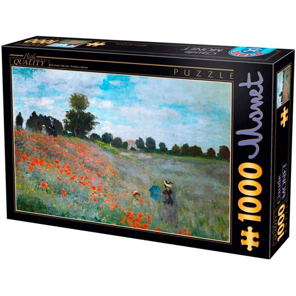 I Papaveri Monet Puzzle 1000 Pezzi Dtoys Arte