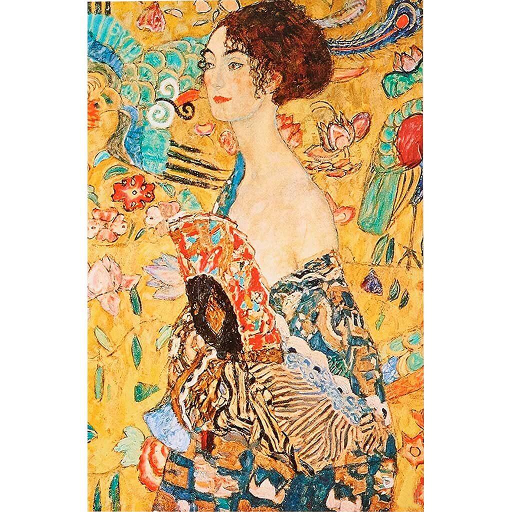 Klimt Puzzle Donna Con Ventaglio Dtoys 1000 Pezzi