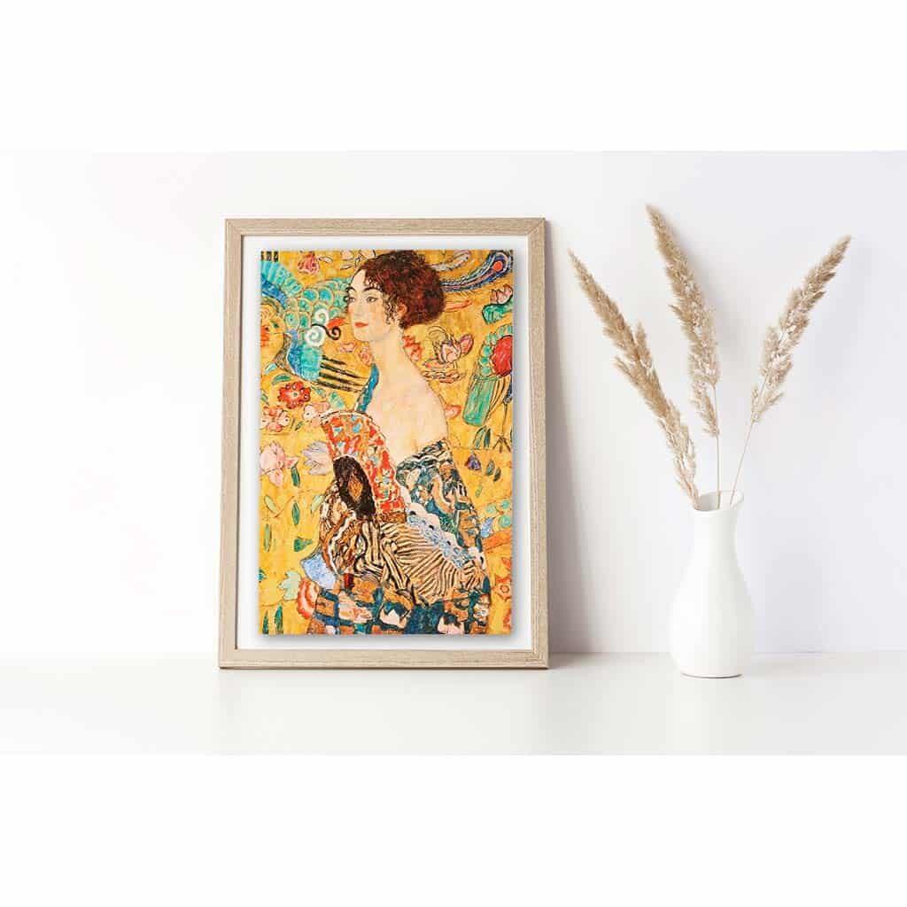 Klimt Puzzle Donna Con Ventaglio Puzzle Arte 1000 Pezzi
