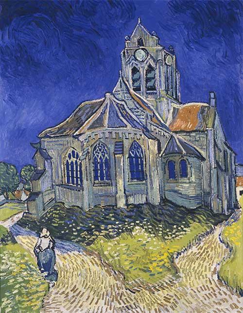 La Chiesa Di Auvers Van Gogh Dettaglio Opera