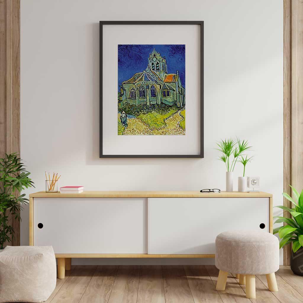 La Chiesa Di Auvers Van Gogh Puzzle 1000 Pezzi Cornice Arte
