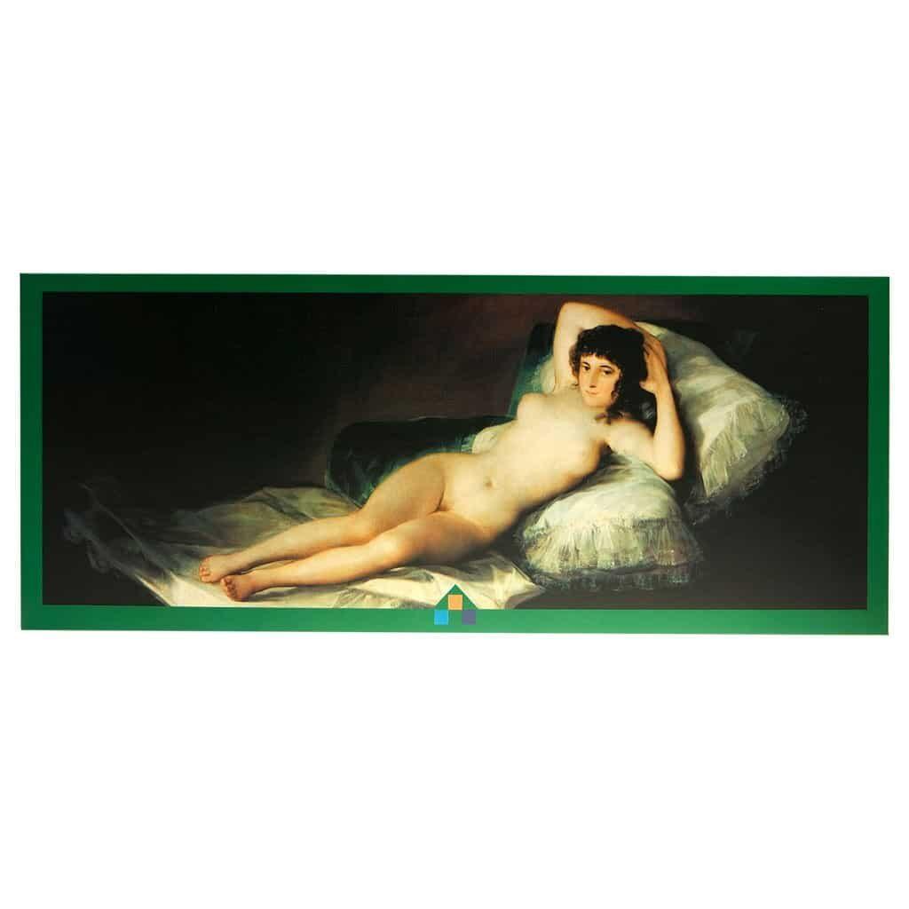 La Maya Desnuda Goya Puzzle Fronte