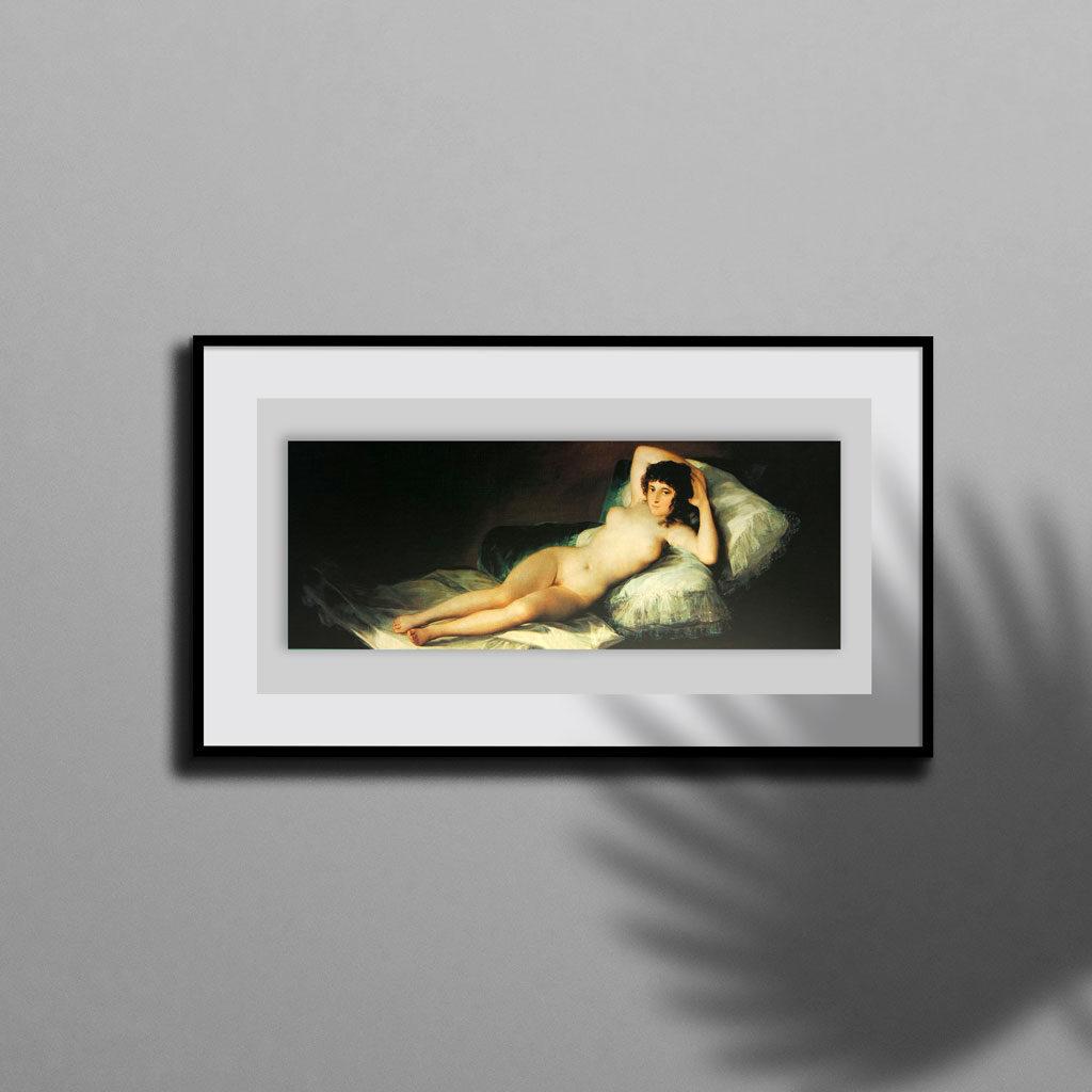 La Maya Desnuda Goya Puzzle Quadro Cornice