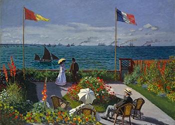 La Terrazza A Sainte Adresse Monet
