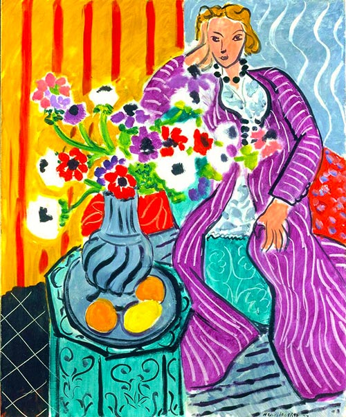 Matisse Purple Robe And Anemomes Quadro Arte Puzzle