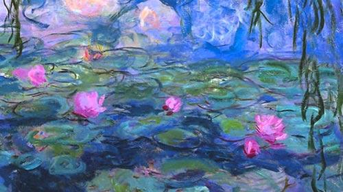 Monet Water Lilies Ninfee Dettaglio