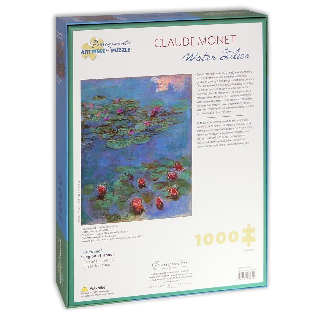 Monet Water Lilies Puzzle 1000 Pezzi Retro