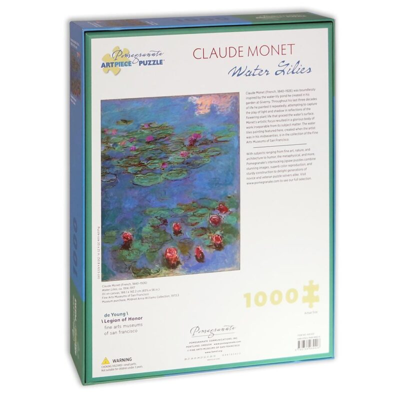 Monet Water Lilies Puzzle 1000 Pezzi Retro