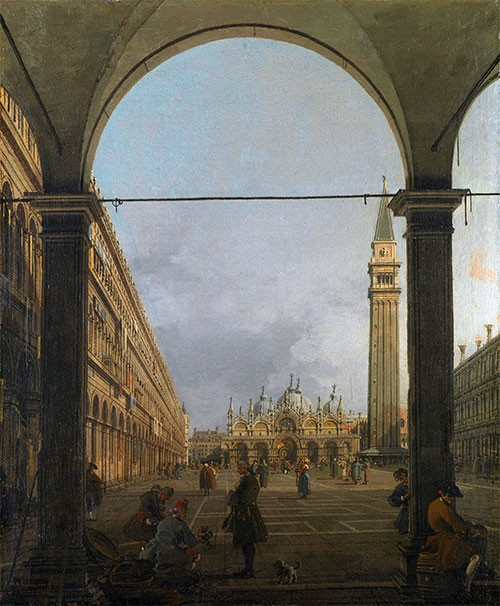 Piazza San Marco Canaletto Veduta Est