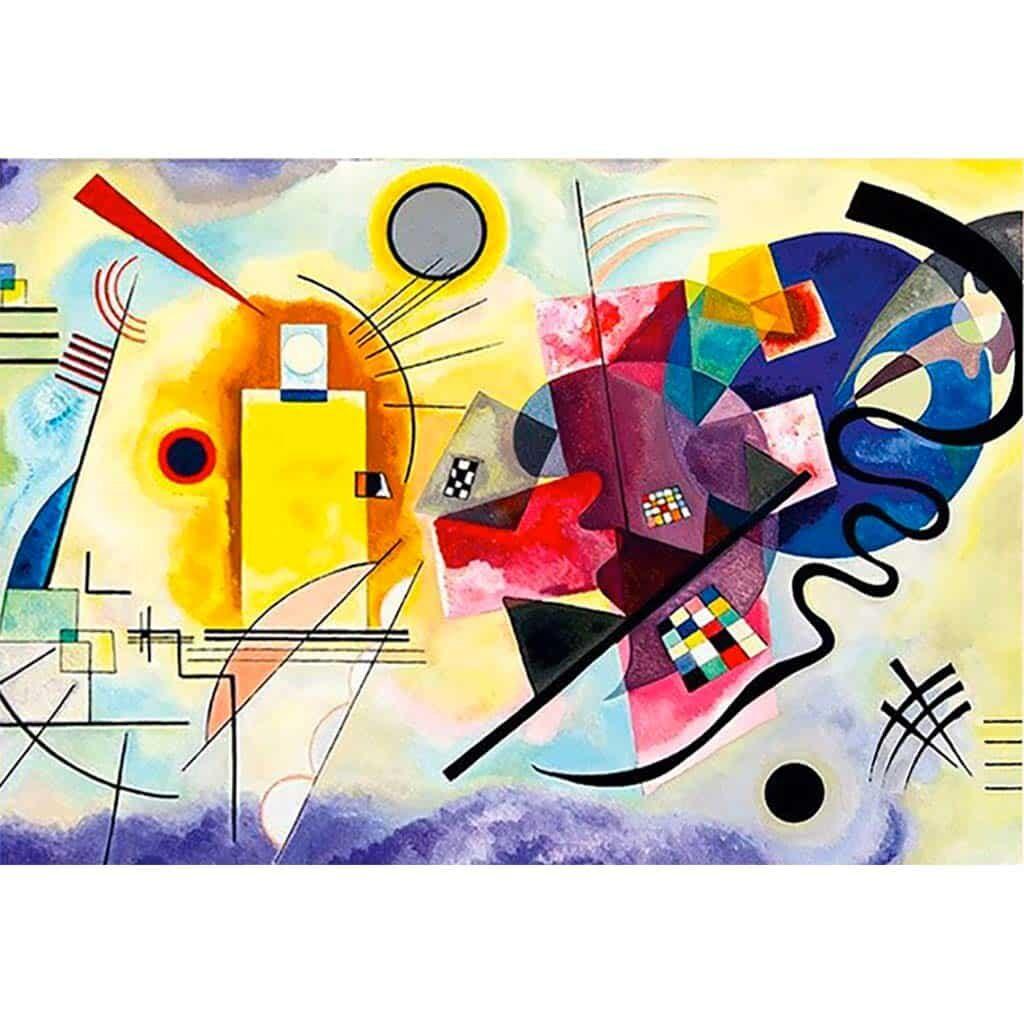 Puzzle 1000 Pezzi Kandinsky Giallo Rosso Blu Dtoys Opera Arte