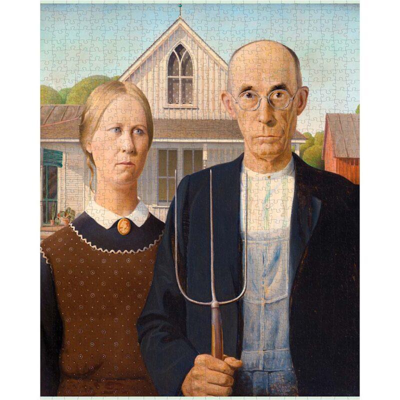 Puzzle Arte Grant Wood American Gothic