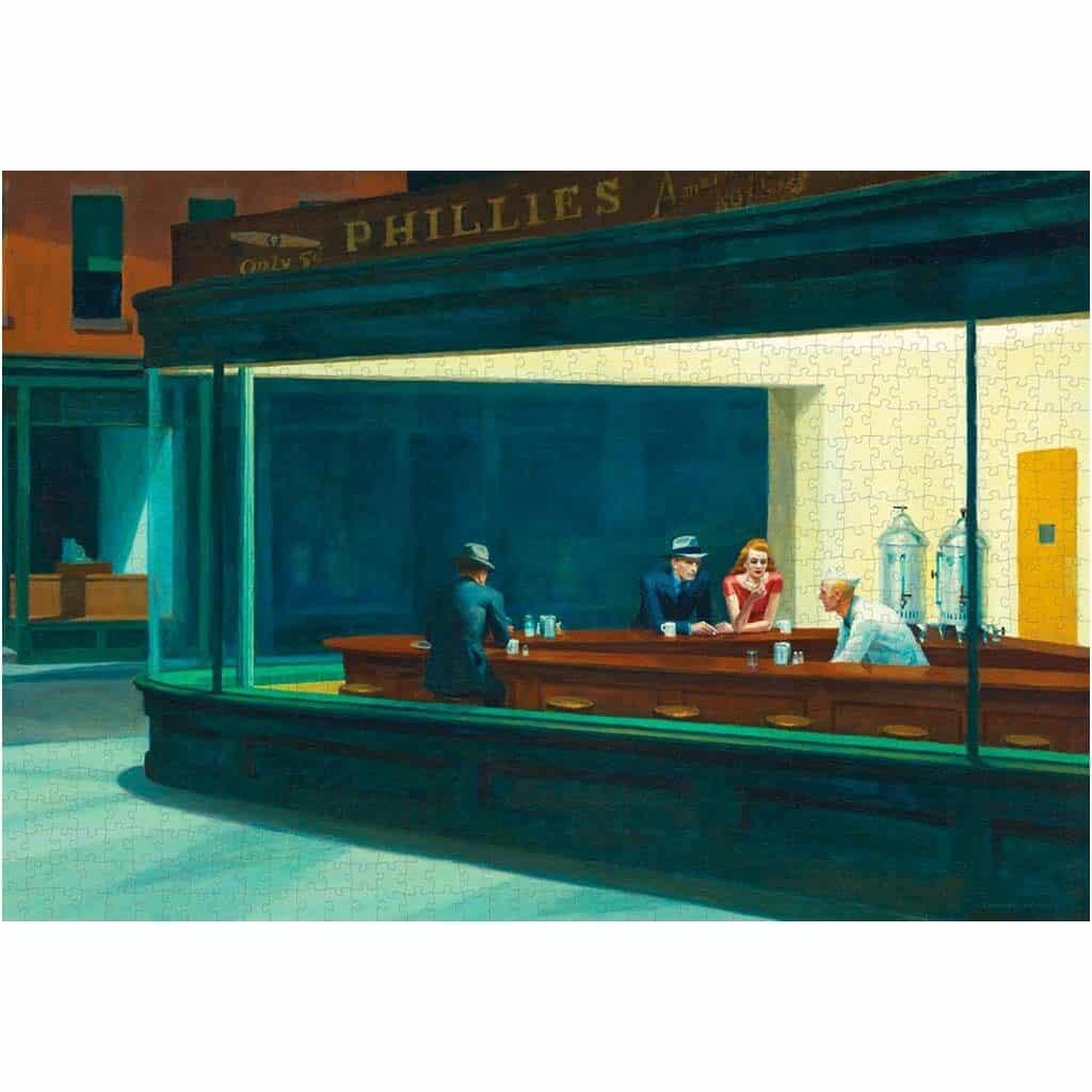 Puzzle Arte Hopper Nighthawks