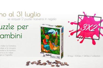 Puzzle bambini in regalo con l'acquisto di 2 puzzle d'arte