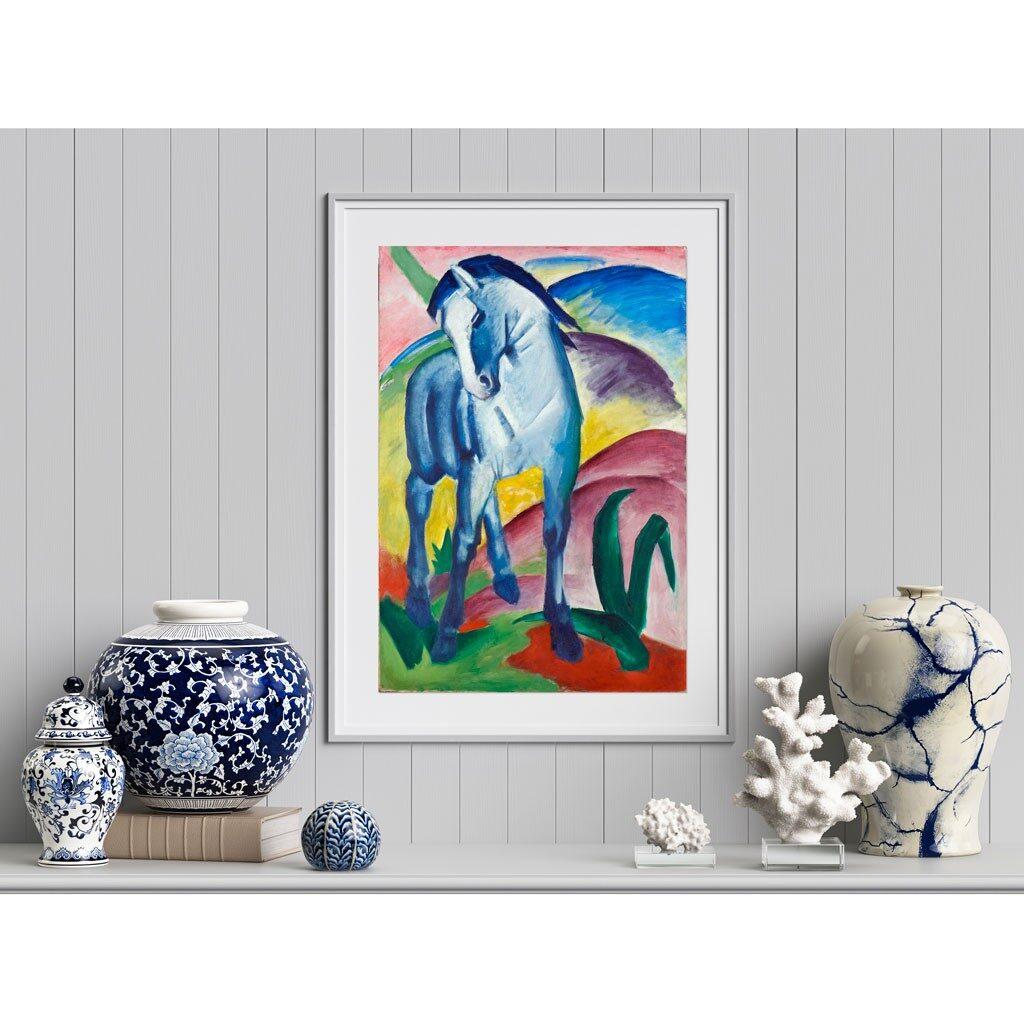 Puzzle Cavallo Blu Franz Mark 1000 Pezzi Cornice Quadro