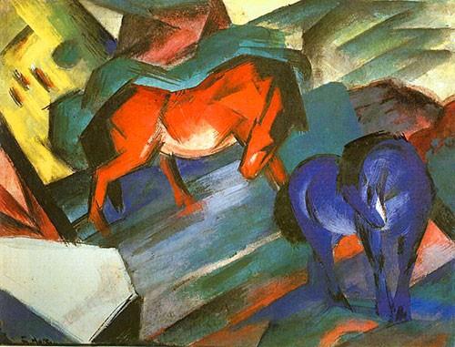 Puzzle Cavallo Cavalli Rossi E Blu Mark Arte