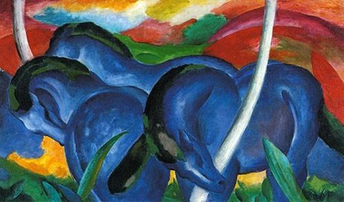 Puzzle Cavallo Franz Mark Grandi Cavalli Azzurri