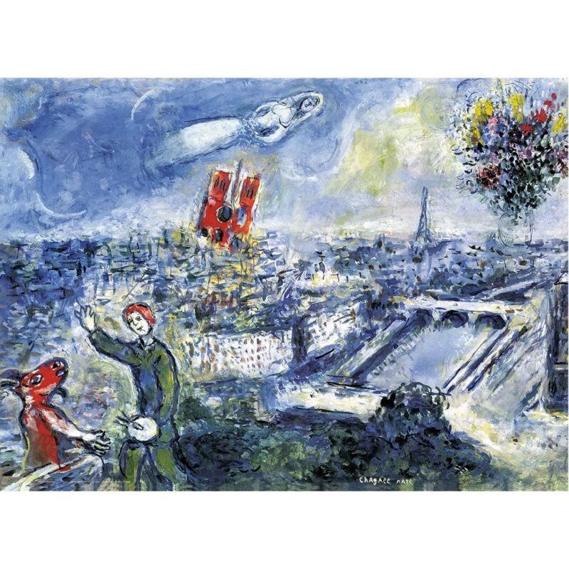 Puzzle Chagall Vue De Paris