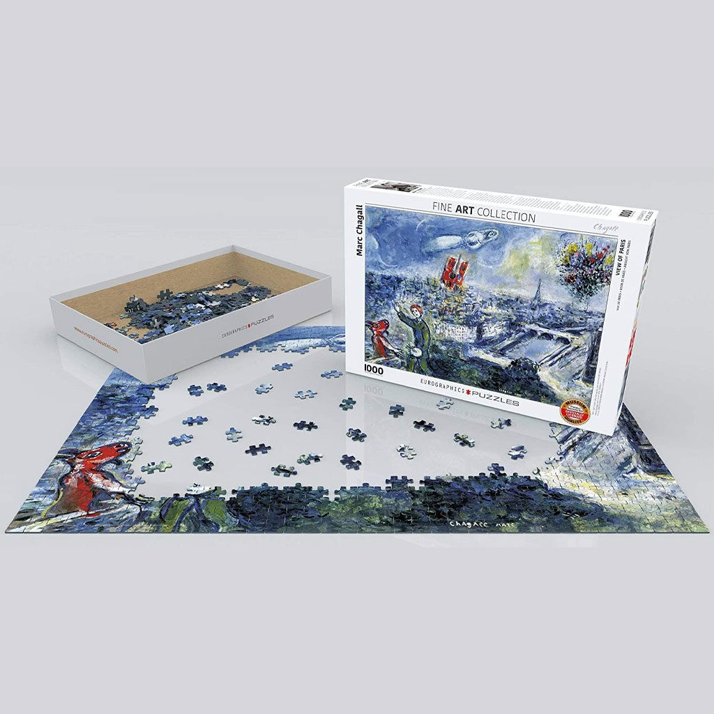 Puzzle Chagall Vue De Paris Arte