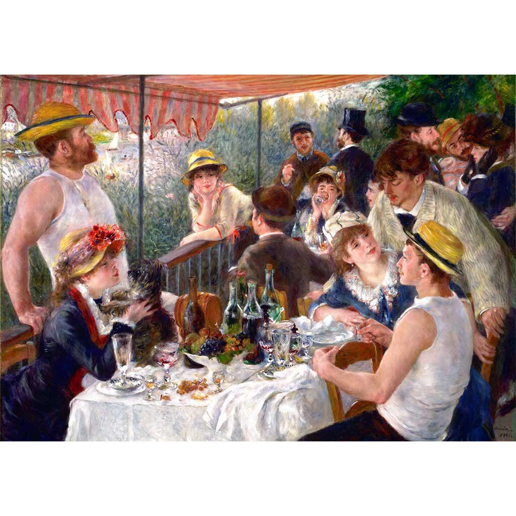 Puzzle Colazione Dei Canottieri Renoir 1000 Pezzi Immagine Dtoys
