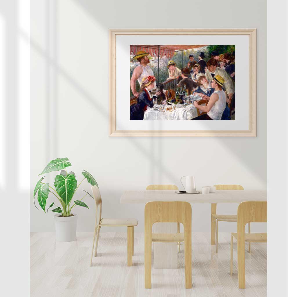 Puzzle Colazione Dei Canottieri Renoir Cornice Arte Dtoys