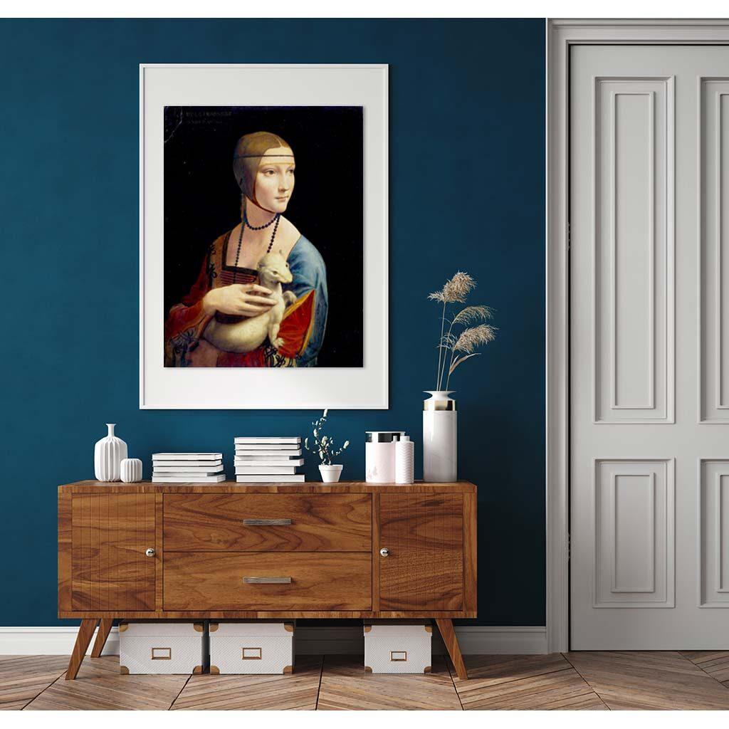 Puzzle Dama Con Lermellino Leonardo Da Vinci 1000 Pezzi Cornice Arte