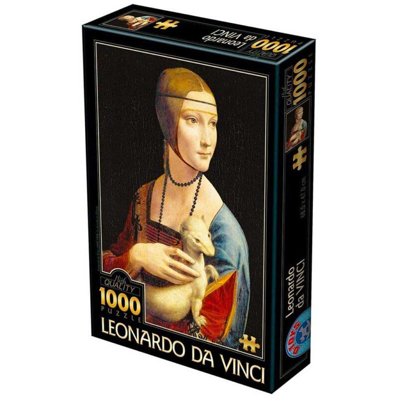 Puzzle Dama Con Lermellino Leonardo Da Vinci 1000 Pezzi Dtoys