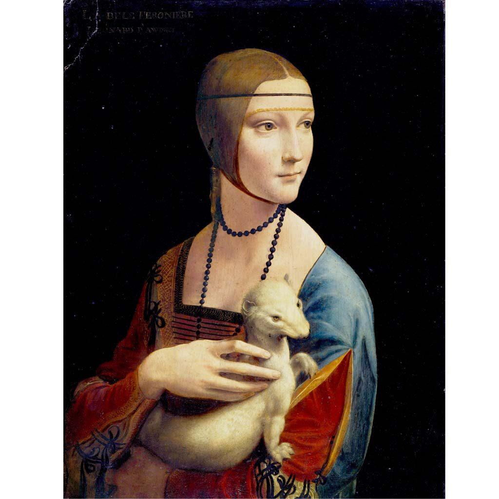 Puzzle Dama Con Lermellino Leonardo Da Vinci 1000 Pezzi Immagine Arte