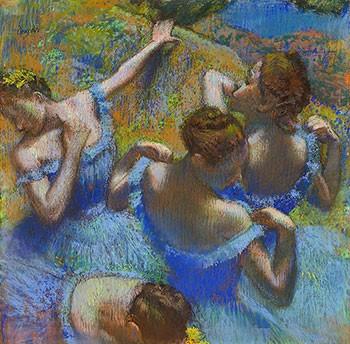 Puzzle Degas Quattro Ballerine In Blu
