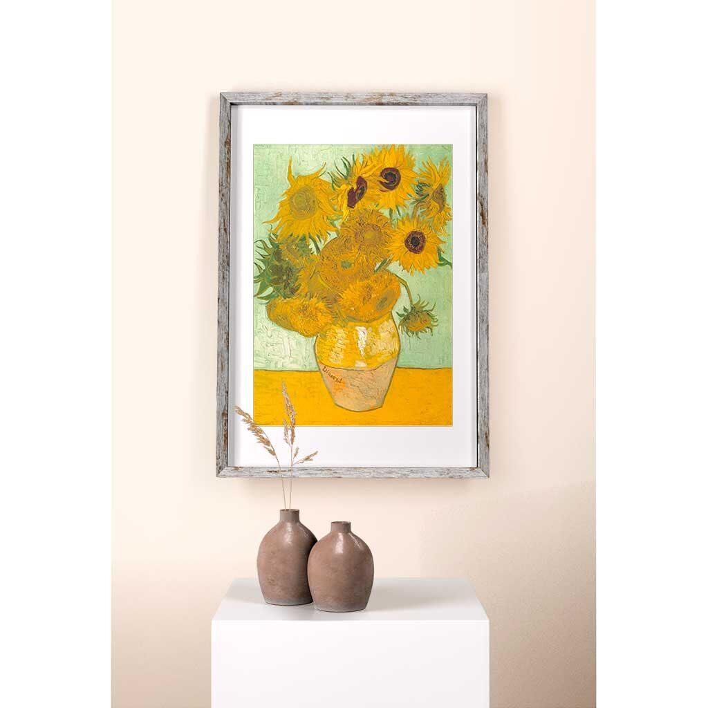 Puzzle Girasoli Van Gogh 1000 Cornice Quadro Arte