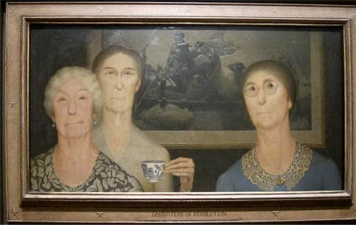 Puzzle Grant Wood Daughters Of Revolution