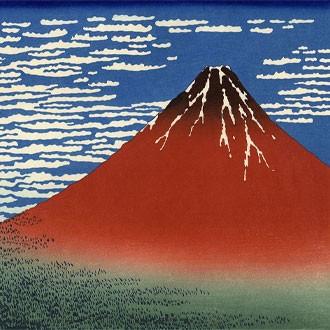 Puzzle Hokusai Fuji Rosso
