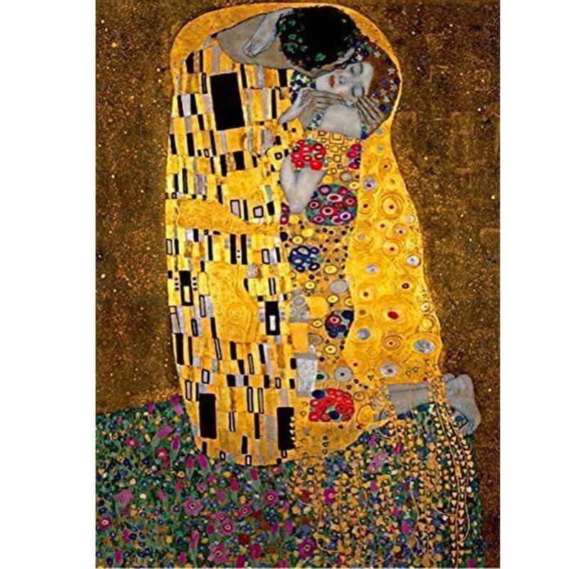 Puzzle Il Bacio Klimt Arte Dettaglio Immagine