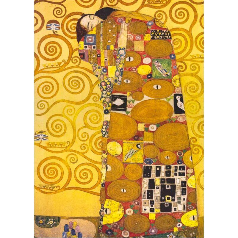 Puzzle Labbraccio Di Klimt 1000 Pezzi Immagine Dettaglio